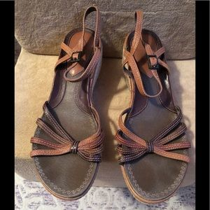 Clark's brown espadrille sandals